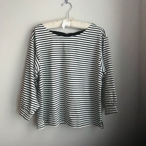 Black and White Tie Back JCrew Top